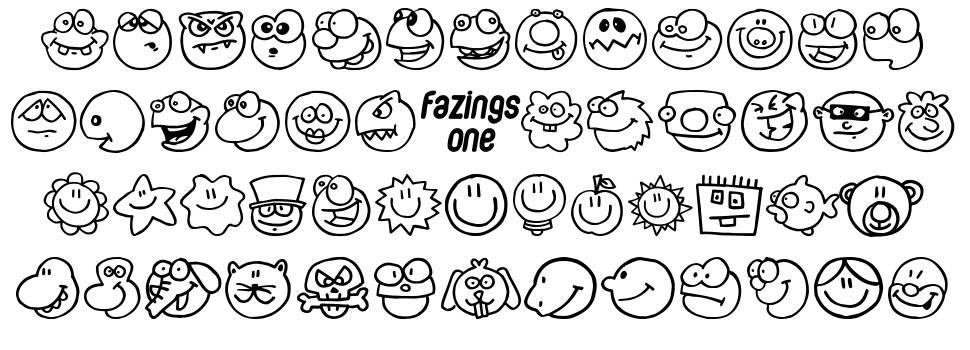 Fazings One 字形