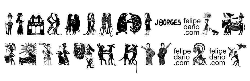 FD J Borges font
