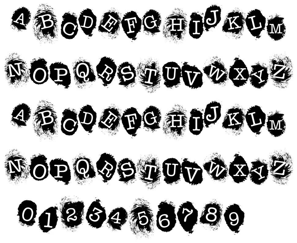 FE Fingerprints Inside font