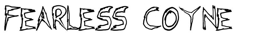 Fearless Coyne font