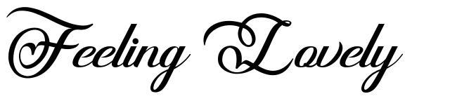 Feeling Lovely font