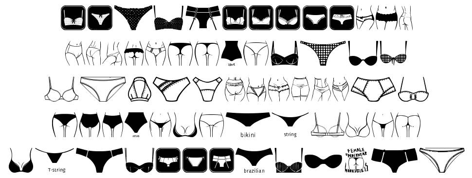 Female Underwear шрифт