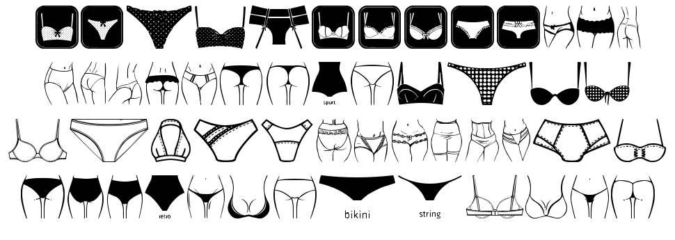 Female Underwear font