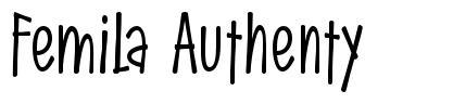 Femila Authenty font