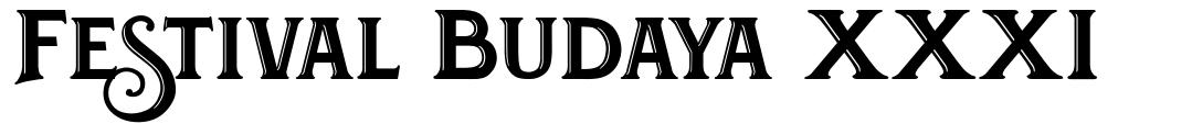 Festival Budaya XXXI font