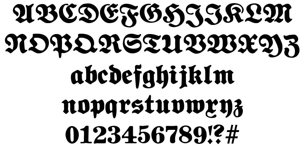 Fette National Fraktur font