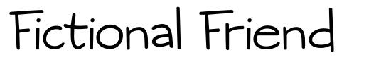 Fictional Friend font