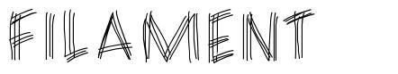 Filament font