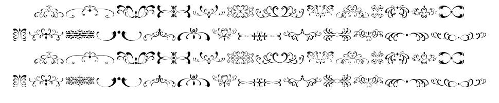 Filigrees and Ornaments ST font