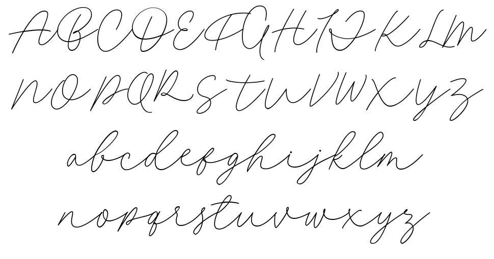 Fillia Script 字形
