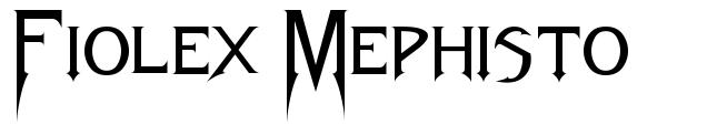 Fiolex Mephisto 字形