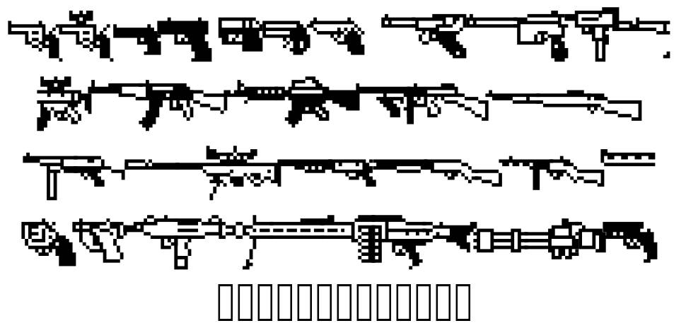 Firearm Encyclope font