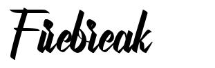 Firebreak font