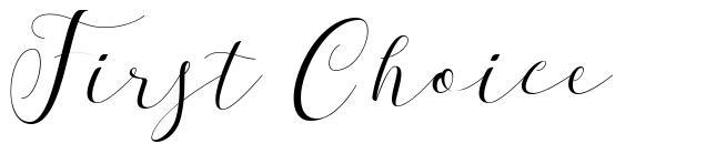 First Choice font