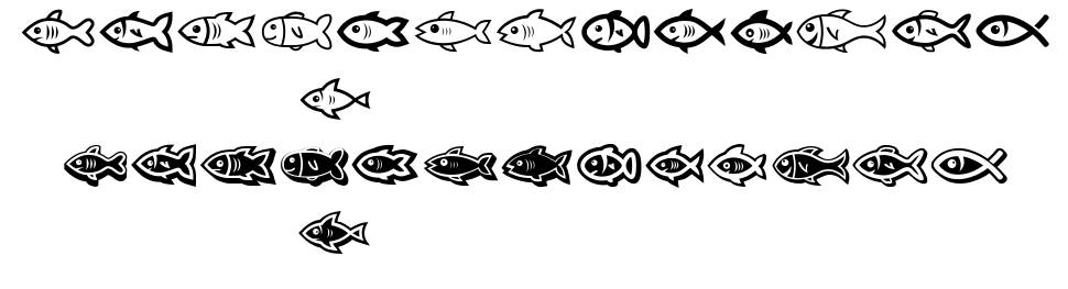 Fishes font
