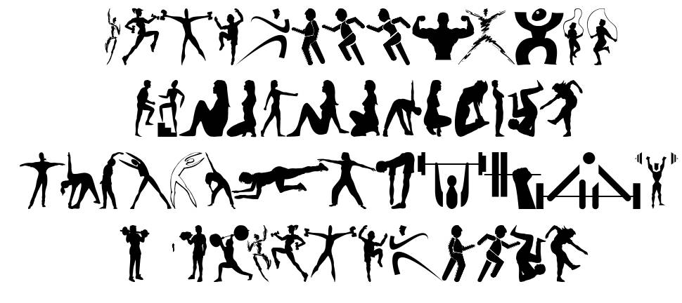 Fitness Silhouettes font