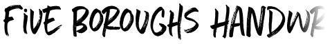 Five Boroughs Handwriting
