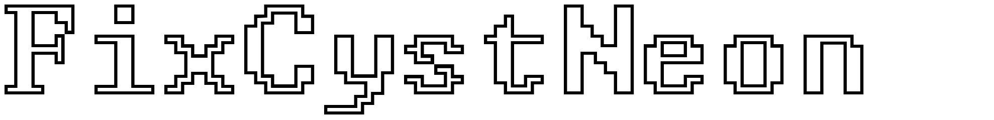 FixCystNeon font