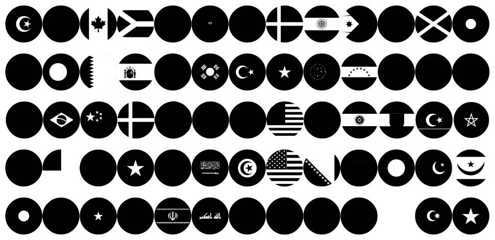 Flags World Color フォント