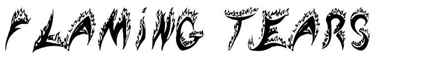 Flaming Tears 字形