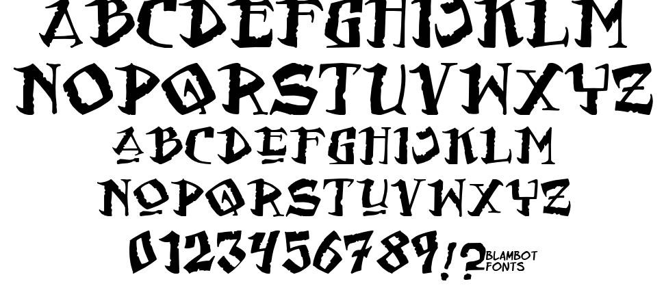 Flat Earth Scribe font