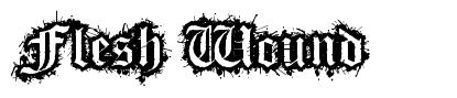 Flesh Wound font