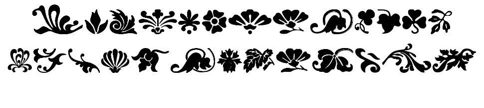 Fleurs Font fonte