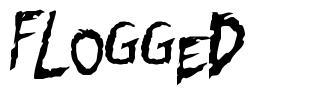 Flogged font