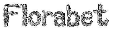 Florabet шрифт