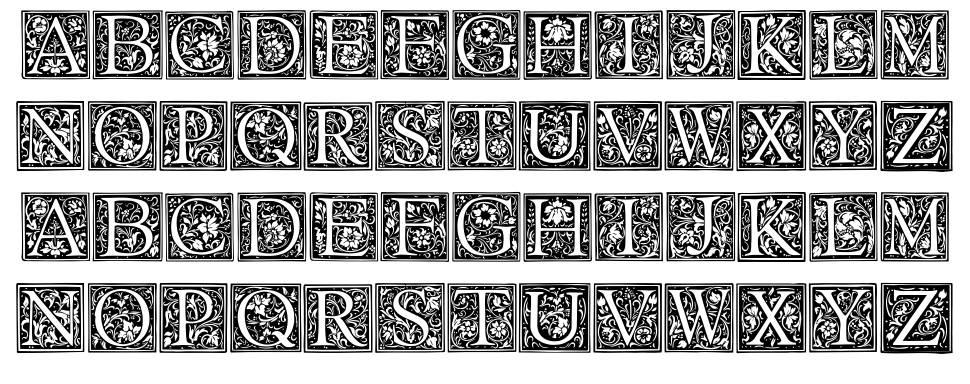 Floral Capitals font
