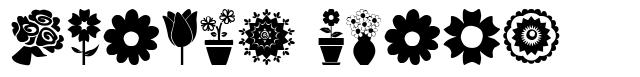 Flower Icons font