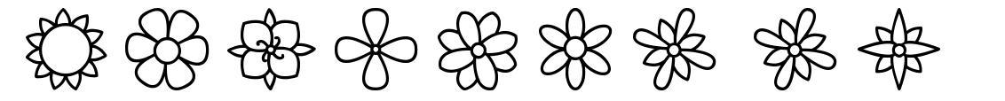 Flowers ST font