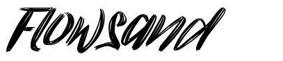 Flowsand font