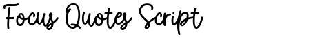 Focus Quotes Script