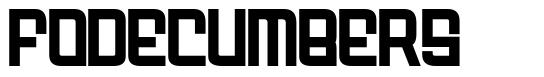 Fodecumbers font