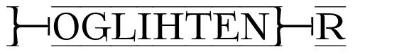 FoglihtenFr font