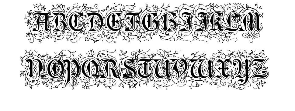 Foliar Initials font