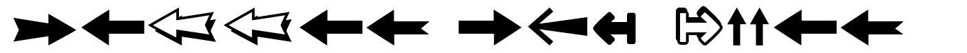Follow The Arrow font
