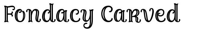 Fondacy Carved font