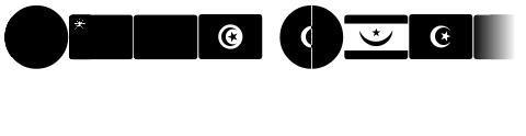 Font Arabic Flags
