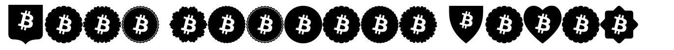 Font Bitcoin Color font