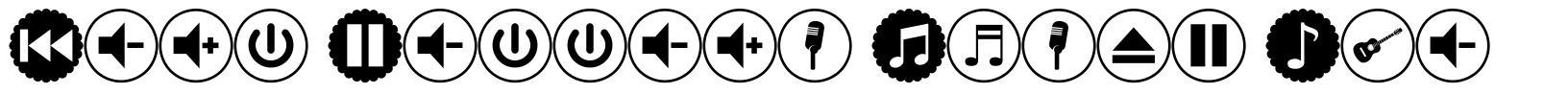 Font Bottons Music Pro font