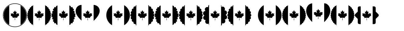 Font Canada Color font