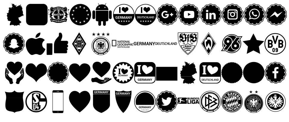 Font Color Germany шрифт