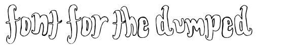 Font for the dumped font