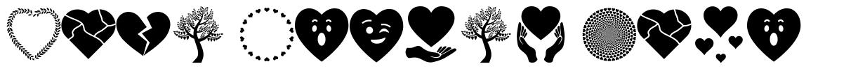 Font Hearts Love font