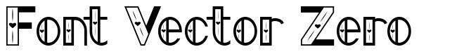 Font Vector Zero font
