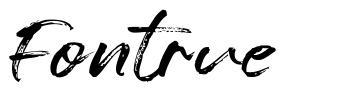 Fontrue písmo