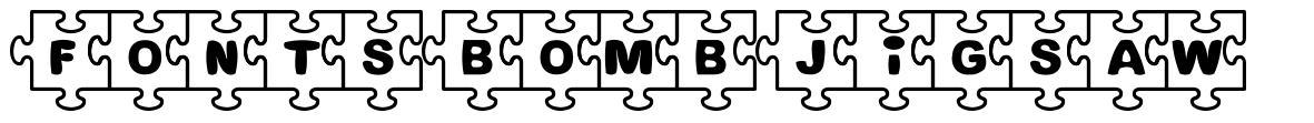 Fonts Bomb Jigsaw font