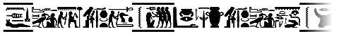 Fonts Vector Hieroglyps